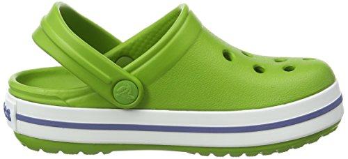 Crocs Crocs Crocband, Sabots mixte enfant Vert (Parrot Green/White)