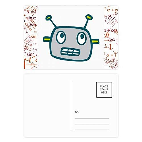 DIYthinker Universum Und Ausländischer grauer Roboter Formel Postkartenset dankt Karte Mailing Side 20pcs 5.7 Zoll x 3.8 Zoll Mehrfarbig - Ausländische Karte