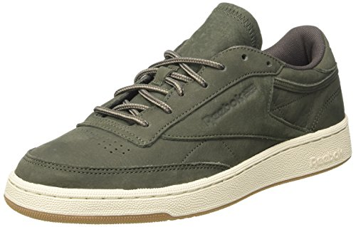 Reebok Club C 85 WP, Zapatillas de Deporte para Hombre, Verde (Hunter Green/Urban Grey/Chalk Gum), 43 EU