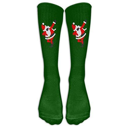 DEFFWBb Dabbing Santa Tshirt Funny Santa Claus Christmas Athletic Tube Stockings Women Men Classics Knee High Socks Sport Long Sock One Size