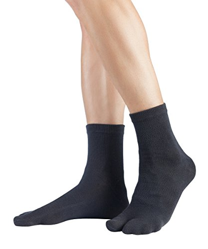 Tabi Kurzsocken | Kurze Zwei-Zehensocken aus Baumwolle, Größe:39-42, Farbe:Charcoal (Ninja-kostüme Für Frauen)