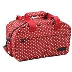 Members Equipaje de mano esencial, compatible con Ryanair Red & White Polka Dots 35 x 20 x 20 cm - 0.5 kg