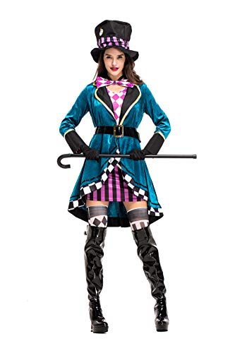 Women's Alice Magician/Circus Clown Pettiskirt Nightclub Animal Trainer Stage Halloween Cosplay Fancy Dress Costume