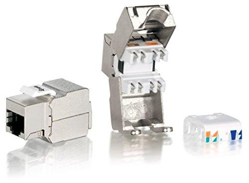 Equip 8 x Keystone Jack Cat.6 voll geschirmt werkzeugfreier Anschluss Idcs 500-system
