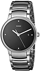 Rado Centrix R30927713 38mm Diamonds Silver Steel Bracelet & Case Anti-Reflective Sapphire Men's Watch
