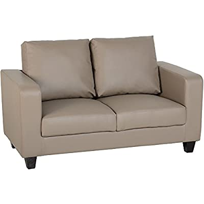 Seconique Tempo 2 Seater Sofa-In-A-Box, Taupe FREE DELIVERY by Seconique