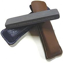 i2g1202512mletui. Piedra de afilar cuchillos natural de los Pirineos 2granos especial con funda
