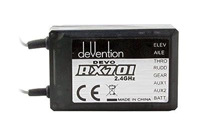 XciteRC Devo F77Channel 2.4GHz with Remote Control Set 5.8GHz FPV Receiver RX 701 from XciteRC