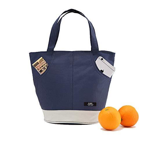 Isolierte Mittagessen Tote Bag für Frauen Männer Erwachsene Große Kühler Lunch-Boxen für Büroarbeit Schule Picknick Outdoor Mittagessen Bento Box für Kinder Student Kinder Jungen Mädchen(BLUE-CL) (Iglu Mittagessen Kühler)