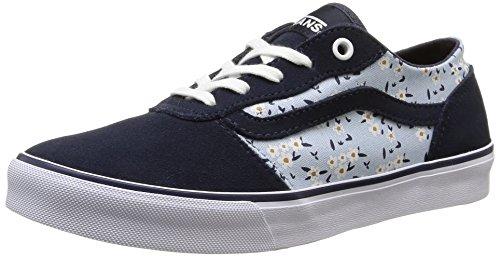 Vans Milton, Sneakers Basses femme Bleu (Floral/Blue)