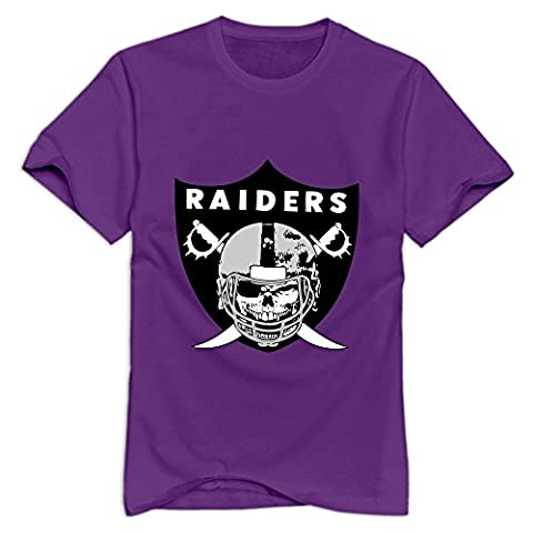 KST Men Scaring Logo Of Oakland Raiders T-Shirt Pre-cotton Swag XL Purple