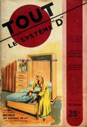 SYSTEME D [No 54] du 01/06/1950 - LE COURRIER DU DEBROUILLARD - SOMMAIRE - AMENAGEMENT DE LA MAISON - CUISINE AMENAGEMENT - CHASSE D'EAU - VITRAGE POSE D'UN - APPAREILS MENAGERS - BATTEUR DE CUISINE - BALANCE DE PRECISION - SECHOIR A LINGE ELECTRIQUE - AUTO MOTO VELO - ESSIEU DE REMORQUE - BEQUILLE POUR VELO - CAMPAGNE JARDIN - JUIN AU JARDIN - OBTENEZ PLUS D'OEUFS - RAMEZ VOS POIS - DIVERS - COLORIAGE DU CADMIUM - PANTOGRAPHE - POUR DEBOUCHER LES FLACONS - SCIEZ VOTRE BOIS DE CHAUFFAGE - ELECT par Collectif