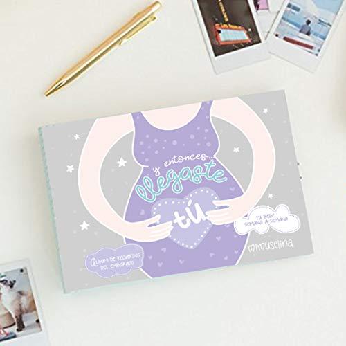 Y entonces... llegaste TÚ | Albúm diario de Recuerdos y fotos del embarazo by Mimuselina. Libro embarazada con consejos semana a semana