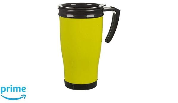 con coperchio salvagoccia easy-grip per t/è e caff/è Blue Tazza da viaggio a doppio spessore