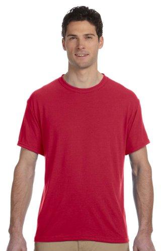Jerzees - Maglietta sportiva - Asimmetrico -  uomo Rosso True