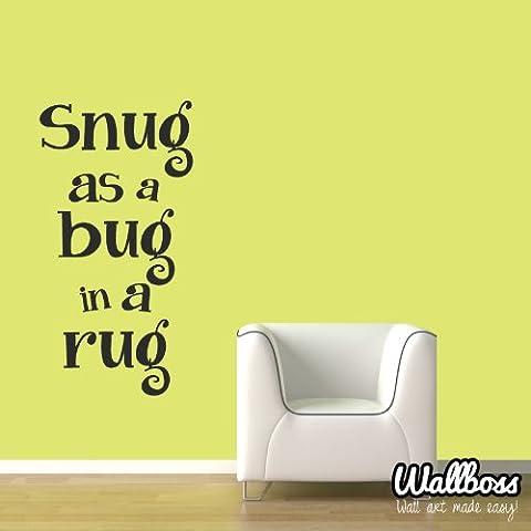 Snug As A Bug In A Rug-Sticker da muro per bambini, decalcomania, In vinile, motivo