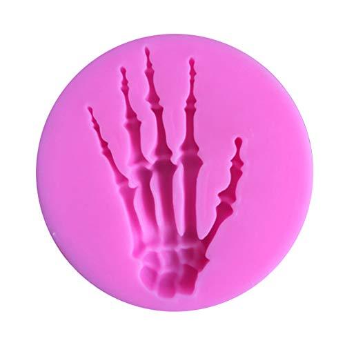 BESTONZON Skeleton Hand Schimmel Nonstick Halloween Silikon Candy Schokoladen Formen DIY Seifenform für Home ()