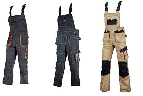 Urgent Latzhose Schutzhose Arbeitskleidung Arbeitshose Farbeauswahl URG-A Grau-orange 44, Graphit