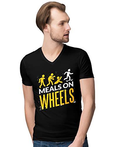 BLAK TEE Herren Halloween Meals on Wheels V-Neck T-Shirt XL