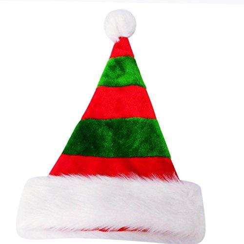 BURFLY Kinderkleidung ♥♥Mehrfarbige Weihnachten Verdickte Hut Weihnachtsmann Cap Familie Erwachsene / Kind Weihnachten (A) (Erwachsenen Strampelanzug Tragen)