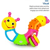 Baybee 3 in 1 Twistable Baby Hand Toy, Rattle, Teether/Lovely Worm Rattle Toys