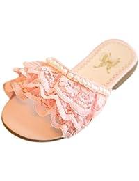 Topgrowth Sandali Bambina Infantile Ragazze Ciglio Bowknot Sandali da Spiaggia Scarpe da Principessa (27, Rosa Caldo)