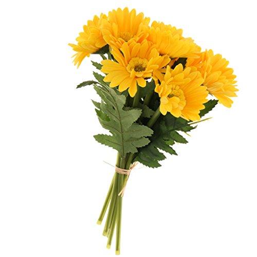 Homyl Künstliche Sonnenblumen Blumenstrauß Blütenköpfe Kunstblumen Home Office Decor
