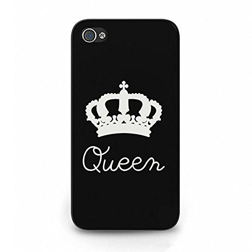 Boyfriend Girlfriend Lovers Iphone 4/4s Case,Luxury Perfect King Queen Couple Phone Case Cover for Iphone 4/4s Best Friends Fashonable Color092d