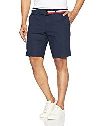 Tommy Hilfiger Mens Cotton Shorts (8907504546435_S7AMN008_34_Midnight)