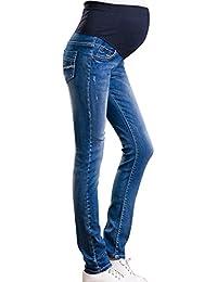 a78cad9d06ae Hzjundasi Donna Leggings Jeans Premaman maternità Pantaloni Elastica Cura  del Ventre