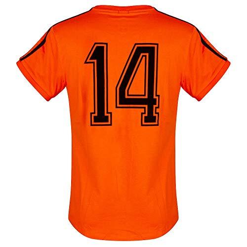 Classic-trikot (Cruyff Classics 1974 Holland Retro Trikot - Orange - S)
