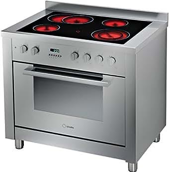 Scholtes CP 965 R Cuisinière Vitrocéramique Pose Libre 90 cm Classe: B Inox