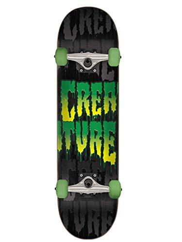 Creature Schwarz Toxic Stack - 7.75 Inch Skateboard Komplett (One Size, Schwarz)