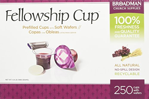 Fellowship Cup Communion Wafer & Juice 250pk Cup Container