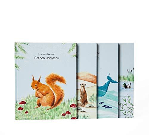 Livre enfant personnalisé avec nom et prénom - Le livre des animaux - Fait main - Cadeau naissance - Made in Belgium - Zebrabook
