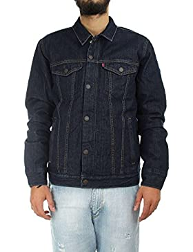 Levi's Hombre Down Fill Styled Trucker Jacket, Azul