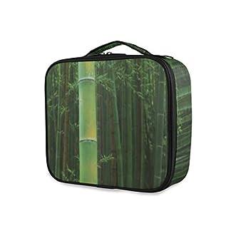 SUGARHE Lámina artística Trópico de una exótica visión de la Selva Fresca de bambú con Tallos Altos,Neceser Maquillaje,Bolsa Cosméticos Organizador Brochas Maquillaje Estuches Portátil