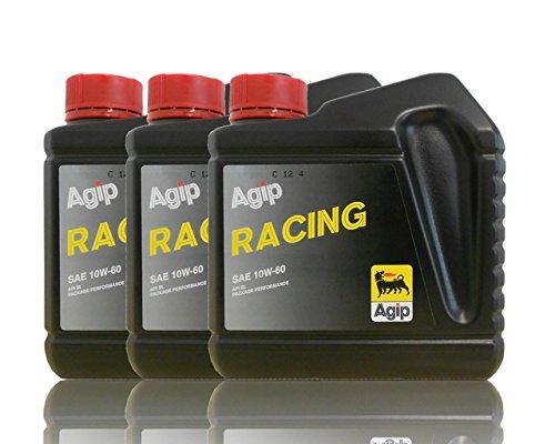 Agip Racing huile de moteur SAE 10 W 60 de 3 x 1 L
