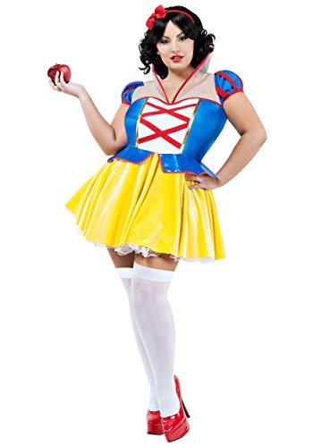 Plus Size Snow White Kostüm 3x - Starline, LLC. Women's Fairest Princess Plus