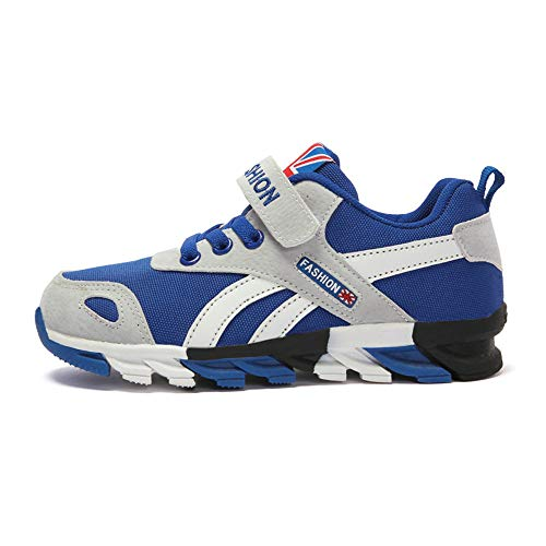 Turnschuhe Kinder Sneaker Jungen Sportschuhe Mädchen Hallenschuhe Outdoor Laufschuhe Für Unisex-Kinder (EU31=CN32, 856-Graues Blau) - Turnschuhe Für Kinder Graue