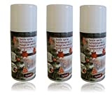 UrbanDesign 3 x 150ml Schneespray Deko Weihnachten Schnee Sprühschnee Kunstschnee Dekoration Basteln (26,44€/L)