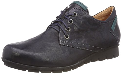 Think! Damen Menscha_383070 Derbys, Blau (84 Navy/Kombi), 40 EU