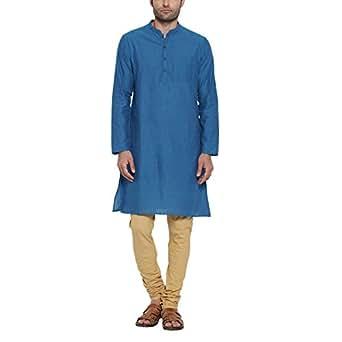 Indus Route by Pantaloons Men's Kurta (110030633017_Blue_X-Large)