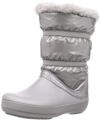 Crocs CB LodgePoint Metallic Boot Silver Metallic Nylon Infant Snow Boots