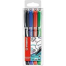 Fineliner - STABILO SENSOR M Wallet of 4 assorted colours