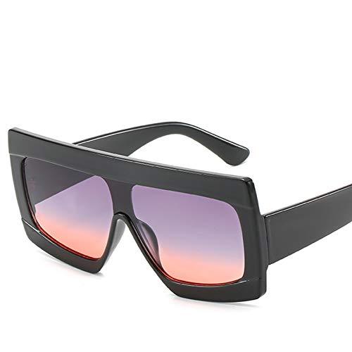 SNXIHES Sonnenbrillen Mode Lila Quadrat Sonnenbrille Frauen Übergroße Mode Gradienten Objektiv Sonnenbrille Männer Flat Top Stil Brillen 5