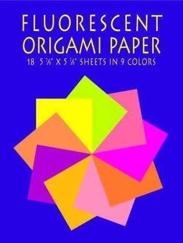 Fluorescent Origami Paper: 18 5 7/8