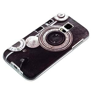 deinPhone Coque de protection en silicone rigide pour Samsung Galaxy S5 Mini Appareil photo rétro