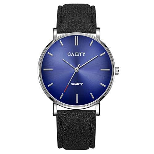 Analog Quarz ultradünn Classic Minimalistisches Design Armbanduhr für Herren, Skxinn Herrenuhren,Männer Business Fashion Einfach Armbanduhren mit Kunstlederband, Ausverkauf(M)