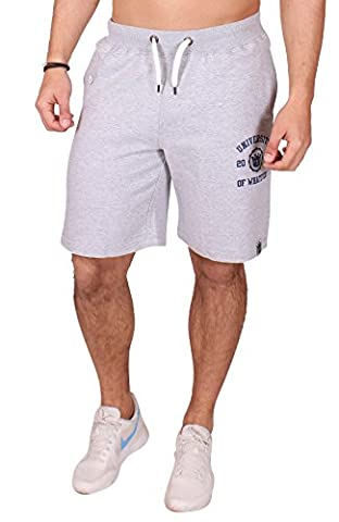 Uni of Whatever Men's Sweat Shorts Grey 2XL Track Shorts Heavy cotton short holidays